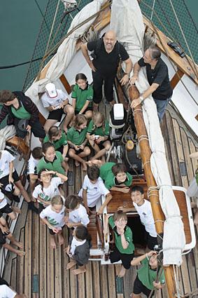 "German European School Singapore (GESS) donate ""Kits 4 Kids"" on board Humanitarian Vessel Vega"