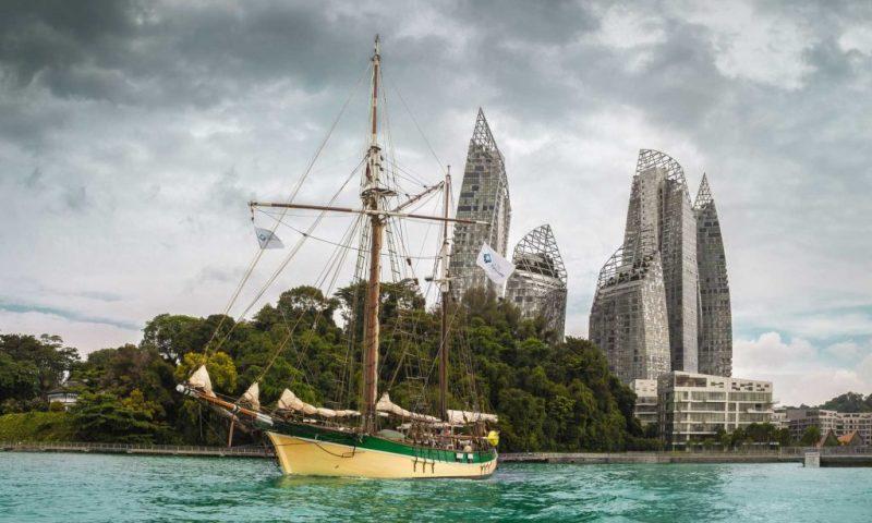Historic Vessel leaving Singapore