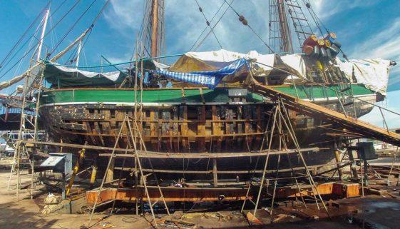 Historic Vessel Vega - New Frames