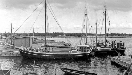 Historic vessel Vega along side in 1952