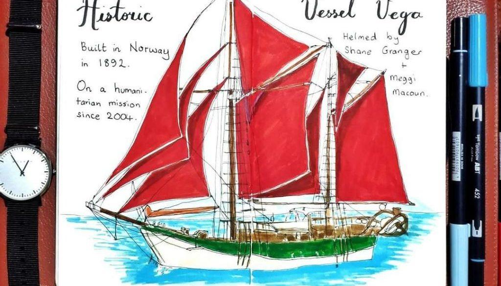Historic Vessel Vega painting