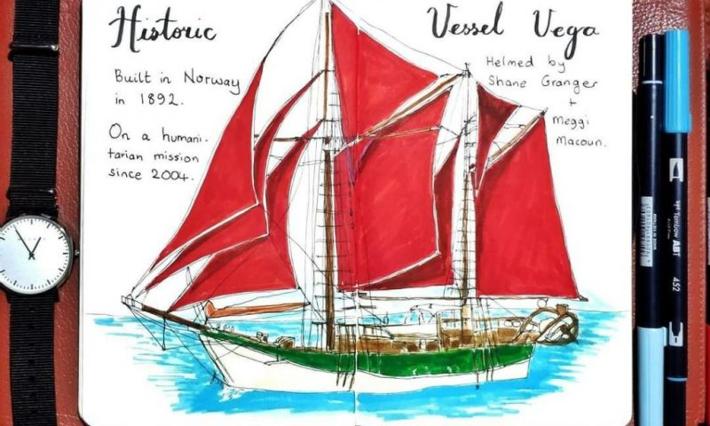 Historic Vessel Vega painting